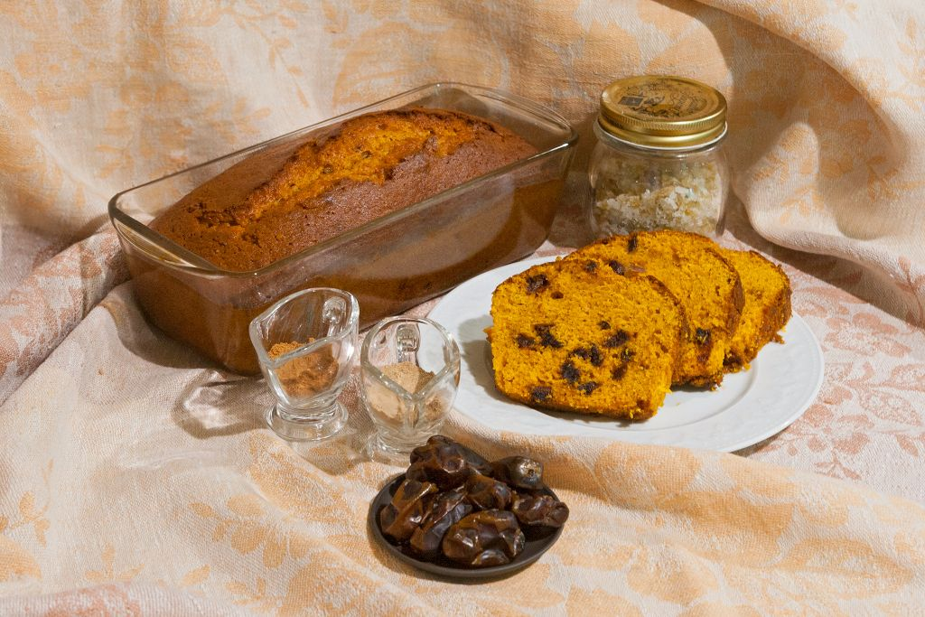 Ginger Date Pumpkin Bread